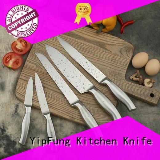YipFung colorful kitchen knife set design for home use