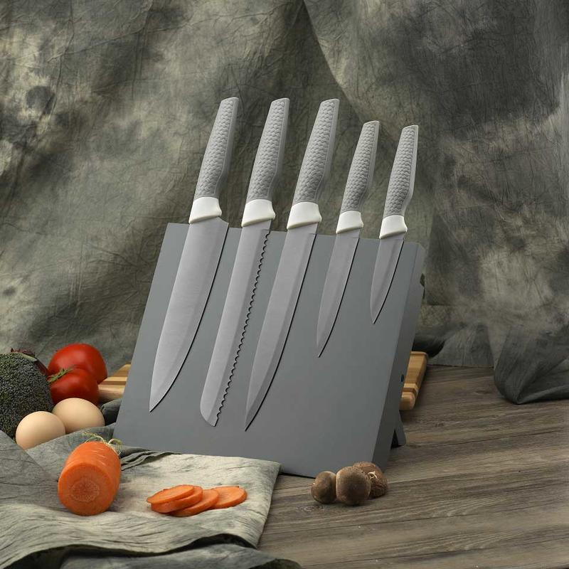 Quality Kitchen Knife Set – 5 Kitchen Knives - Paring, Utility, Bread, Carving, Chef Knife - Non-Stick Coating for Easy Cutting and Cleaning