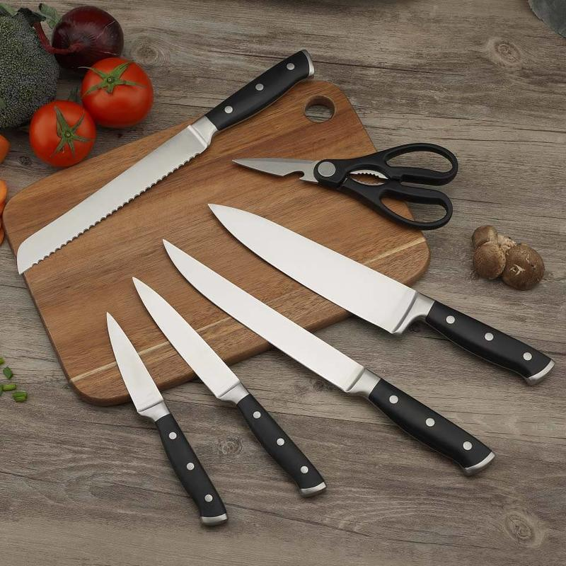 Forged ABS Double Bolster Triplet Rivet Handle Cutlery Set-5pcs