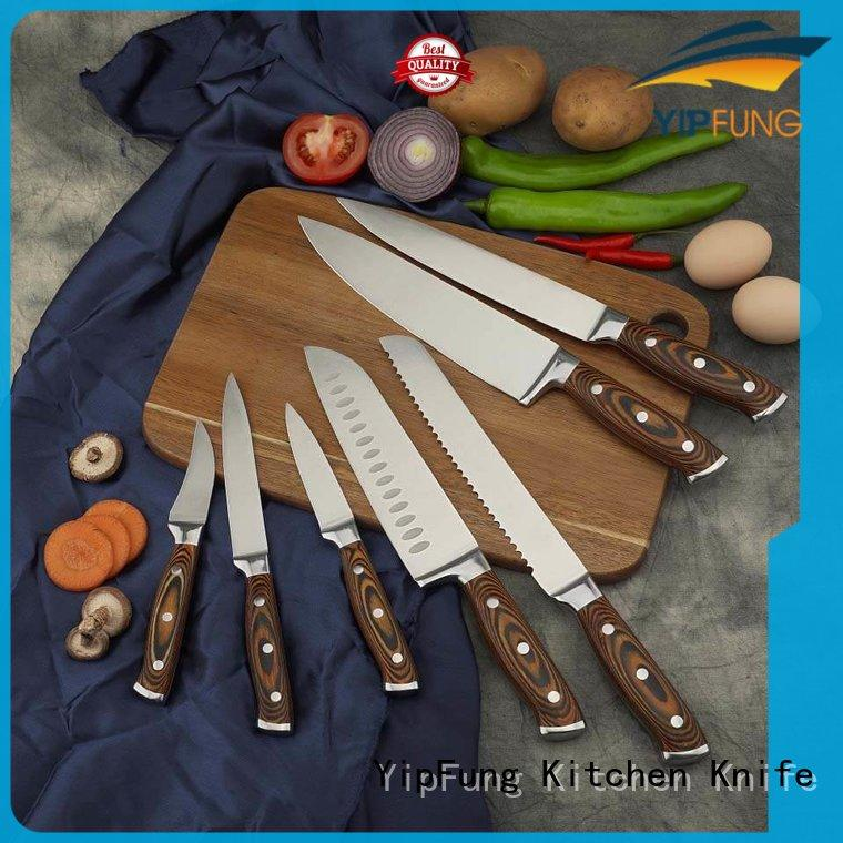 YipFung kitchen knife set with good price for restaurant