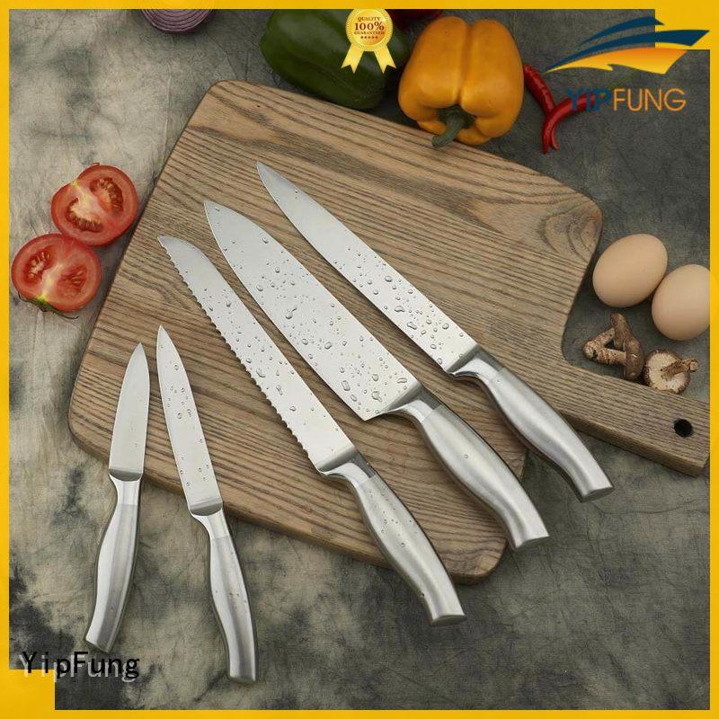 gold titanium chef knife wholesale for restaurant