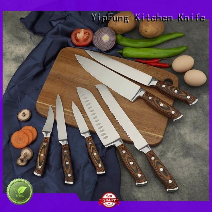 YipFung kitchen knife set customized for restaurant