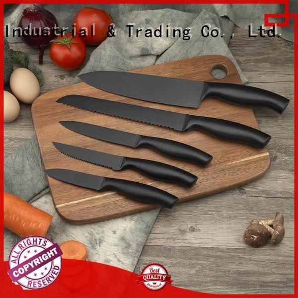 Hollow handle knife set with non-stick coating