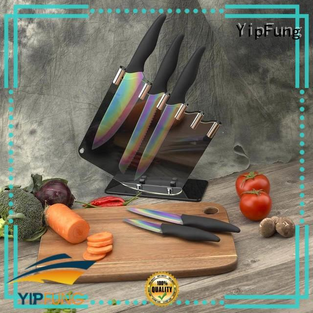 YipFung gold titanium fork with good price for restaurant