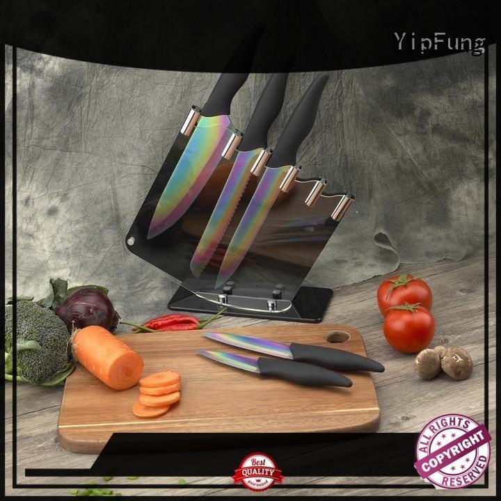Rainbow Coloured Knife Set - Razor Sharp Titanium Coating Blades