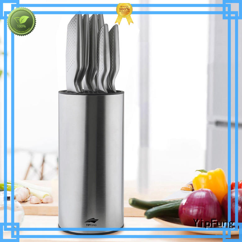 with knife block magnetic knife holder with Acrylic stand for home use YipFung