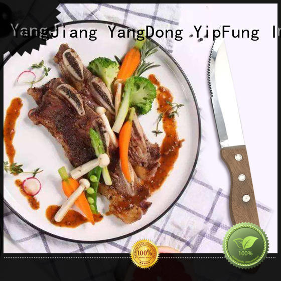 acacia wood serrated steak knives factory price for restaurant