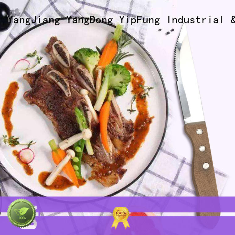 YipFung stainless steel serrated steak knives manufacturer for dinner