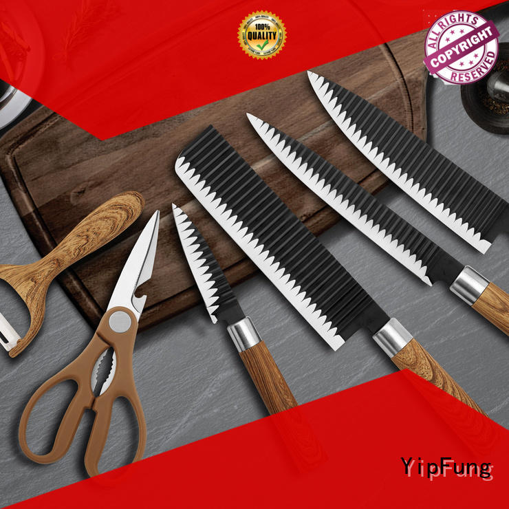 rose gold knife set factory price for home use