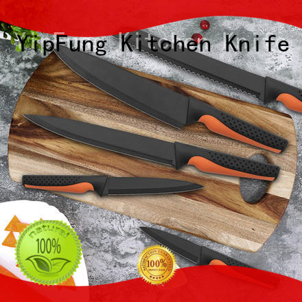YipFung rose gold titanium kitchen knife design for home use