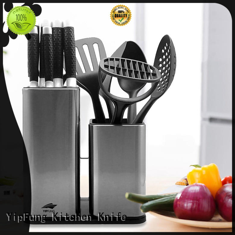 Yipfung Quality Kitchen Knife Set – 6 PCS Kitchen Knives with stainless steel block