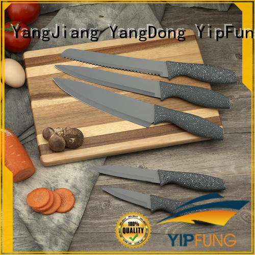 YipFung colorful kitchen knife design for restaurant