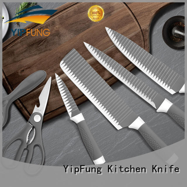 black non stick coating chef knife set supplier for home use