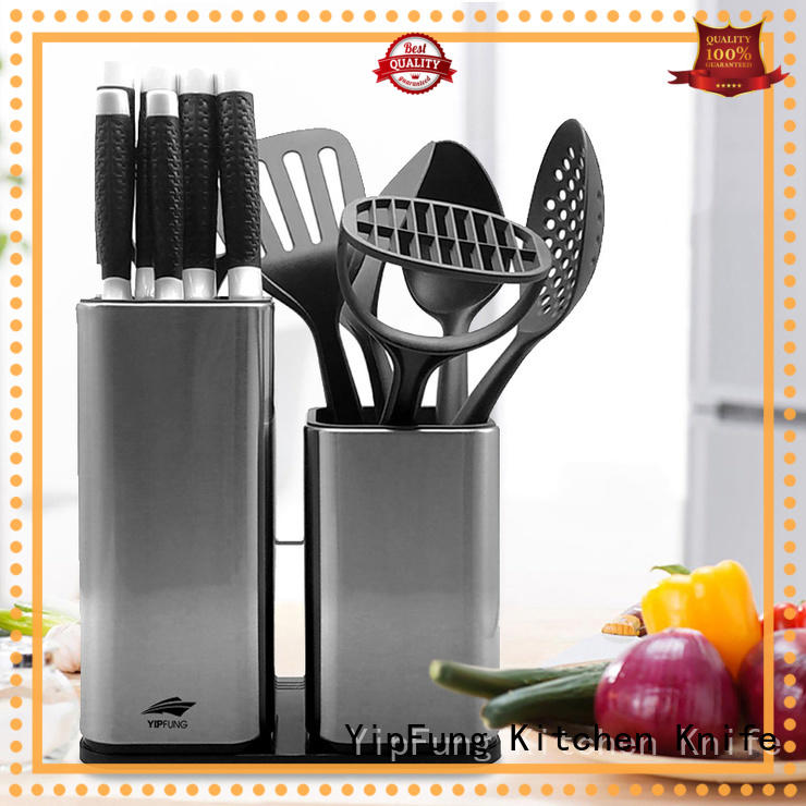 black non stick coating stainless steel knife set damascus steel for restaurant YipFung
