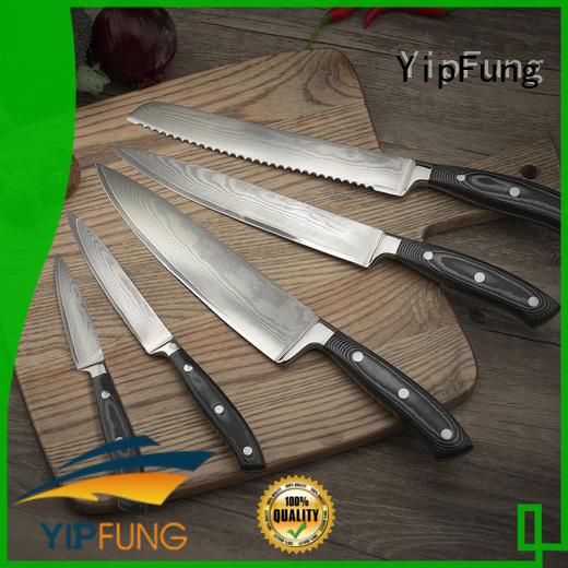 YipFung non-stick coating chef knife supplier for dinner