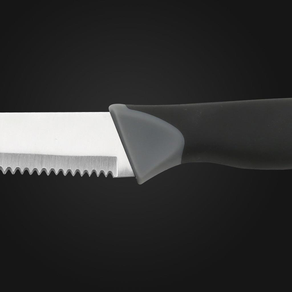 "4.5""Steak knife-BLACK PP+TPR handle"