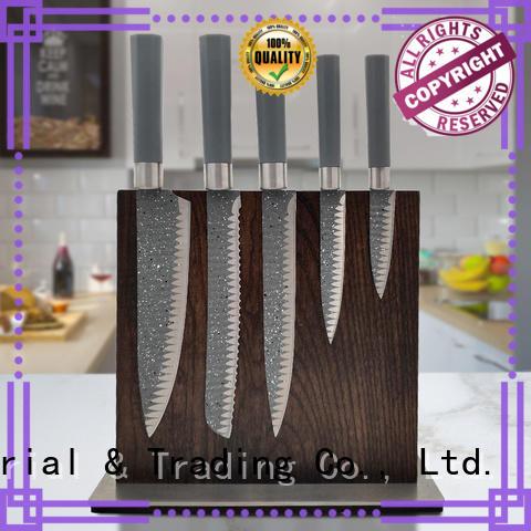 black non stick coating kitchen knife set with good price for kitchen