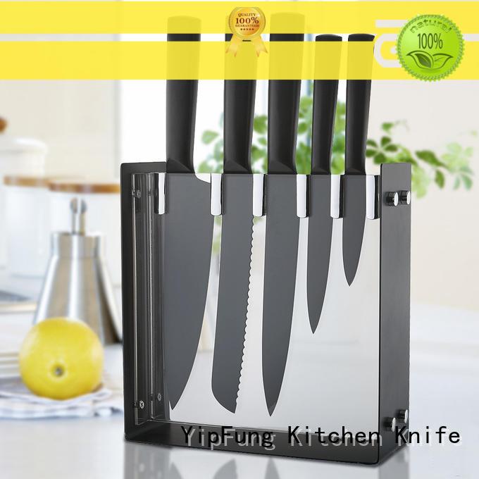 knife set black non stick coating for restaurant YipFung