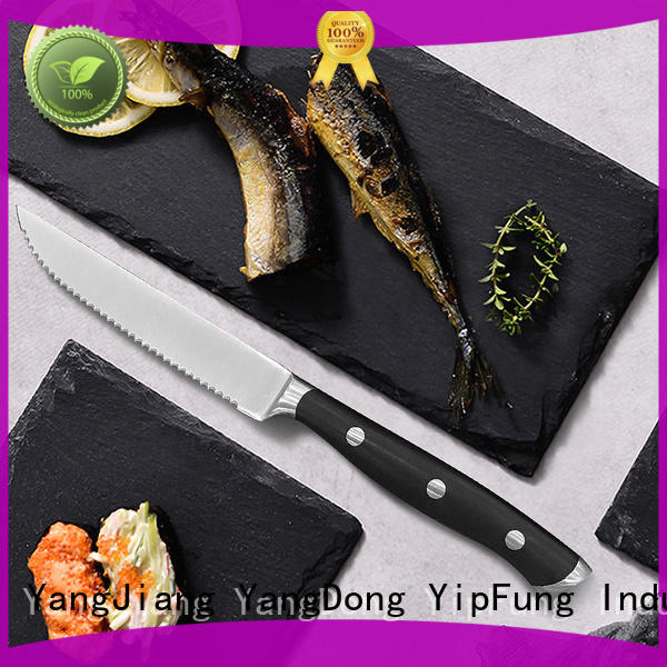 YipFung ultra-sharp serrated steak knives factory price for kitchen