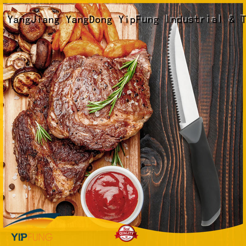 YipFung stable serrated steak knives factory direct supply for home use