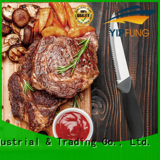 YipFung acacia wood steak knife with good price for home use