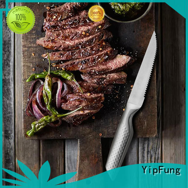 YipFung durable serrated steak knives factory price for restaurant
