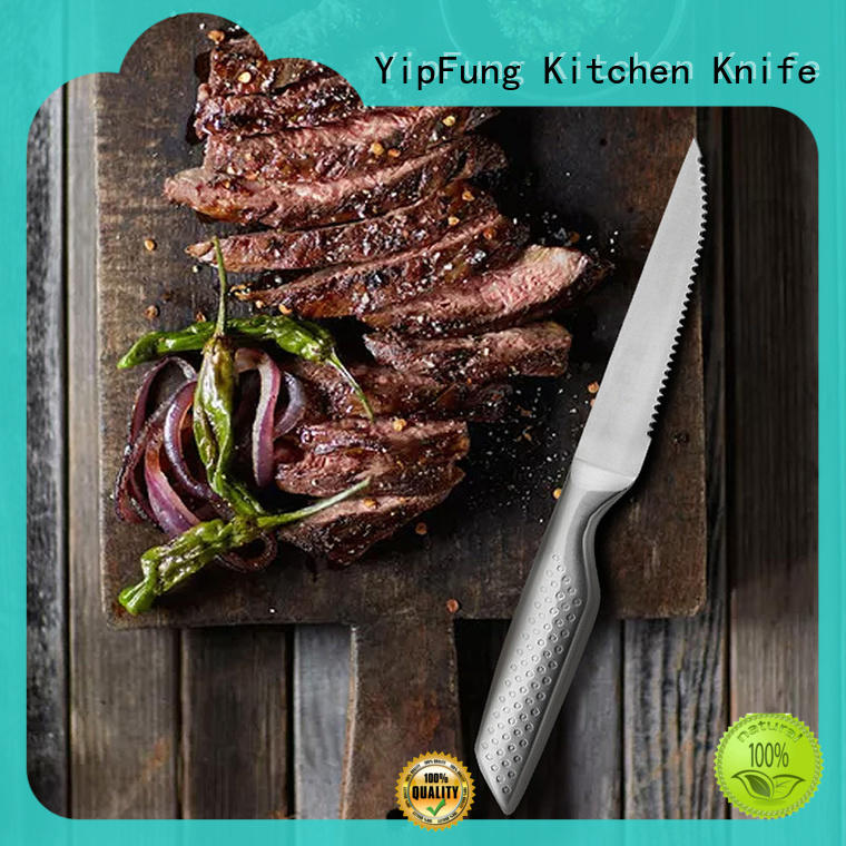 YipFung serrated steak knives with good price for home use
