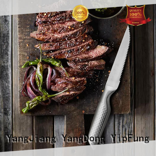 YipFung PP + TPR handle with taper grinding serrated steak knife manufacturer for kitchen