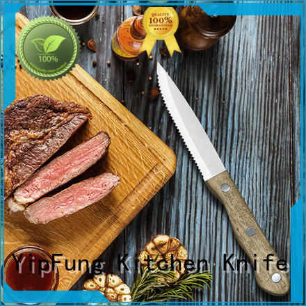 PP + TPR handle with taper grinding serrated serrated steak knives factory direct supply for home use