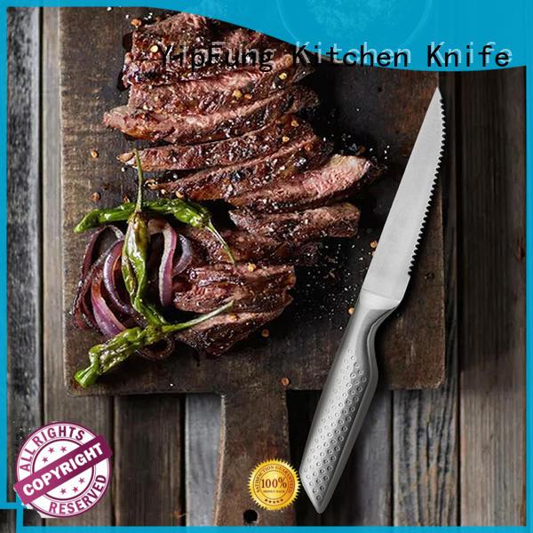 durable steak knife customized for dinner