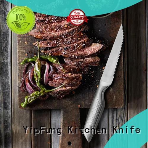 modern design serrated steak knives series for dinner